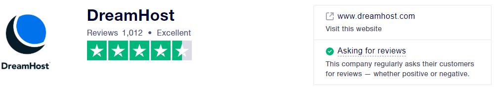 dreamhost评价-trustpilot